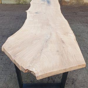 eiken boomstam tafel